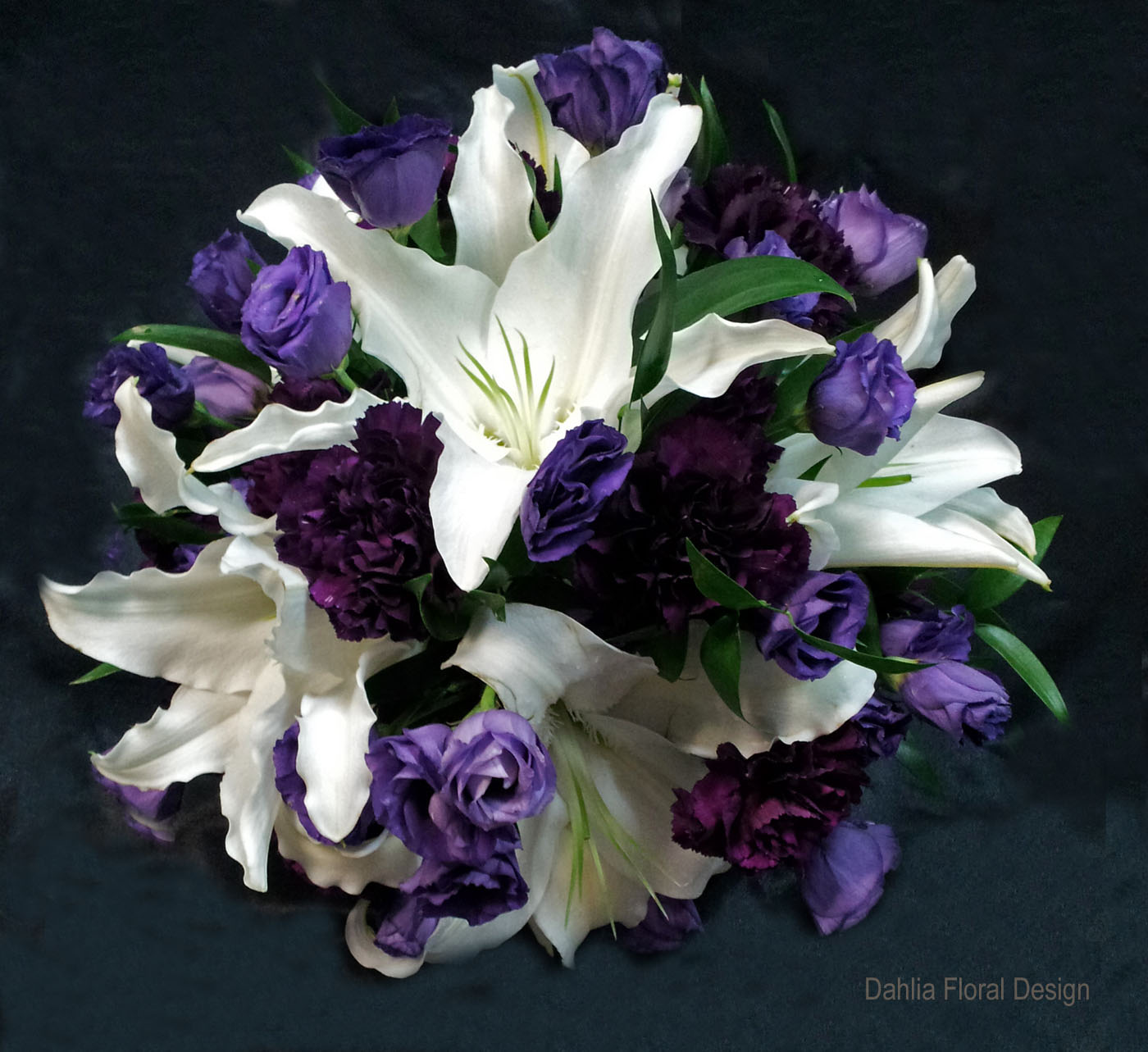 Wedding Flowers Lilies Purple white lily with...