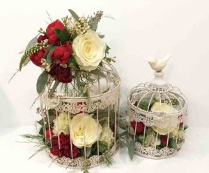 Low centerpiece ideas gallery dahlia floral design calgary calgary wedding flowers dahlia floral design bridal bouquet florist reception centerpiece bird cage res ivory rustic mightylinksfo