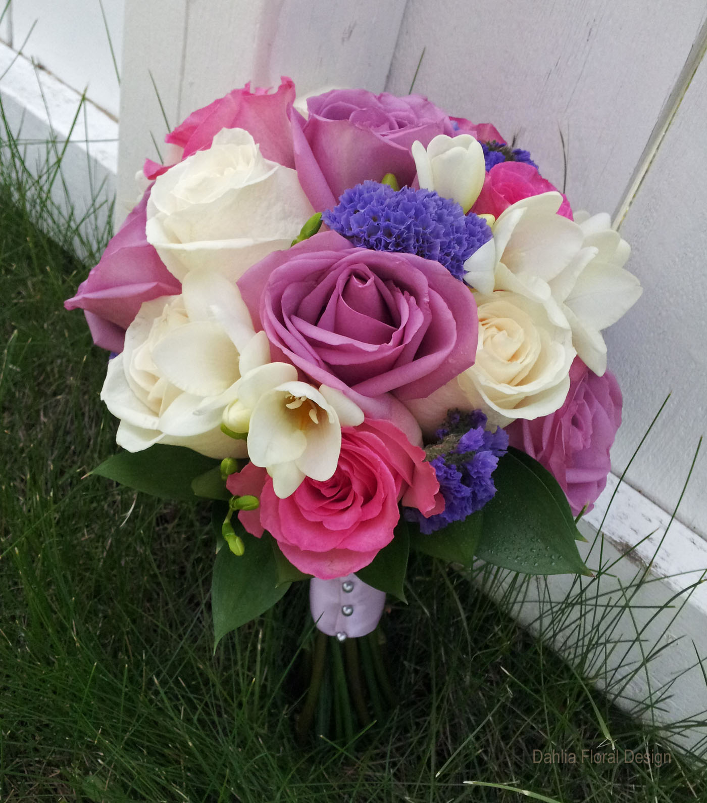 Purple And Pink Wedding Flowers: Pink Purple Mauve Wedding Flower Bridal Party Bouquet