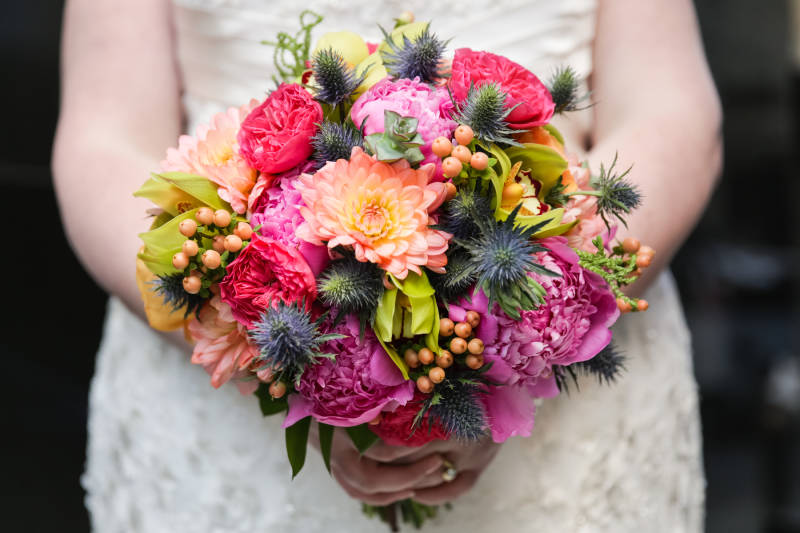 Mixed Colored Wedding Bouquet Video