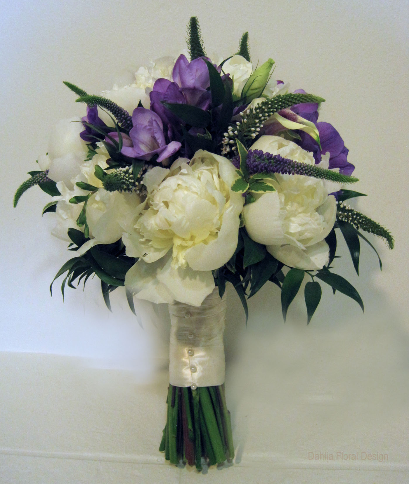 peony purple white cream ivory wedding flower bridal party bouquet. Black Bedroom Furniture Sets. Home Design Ideas