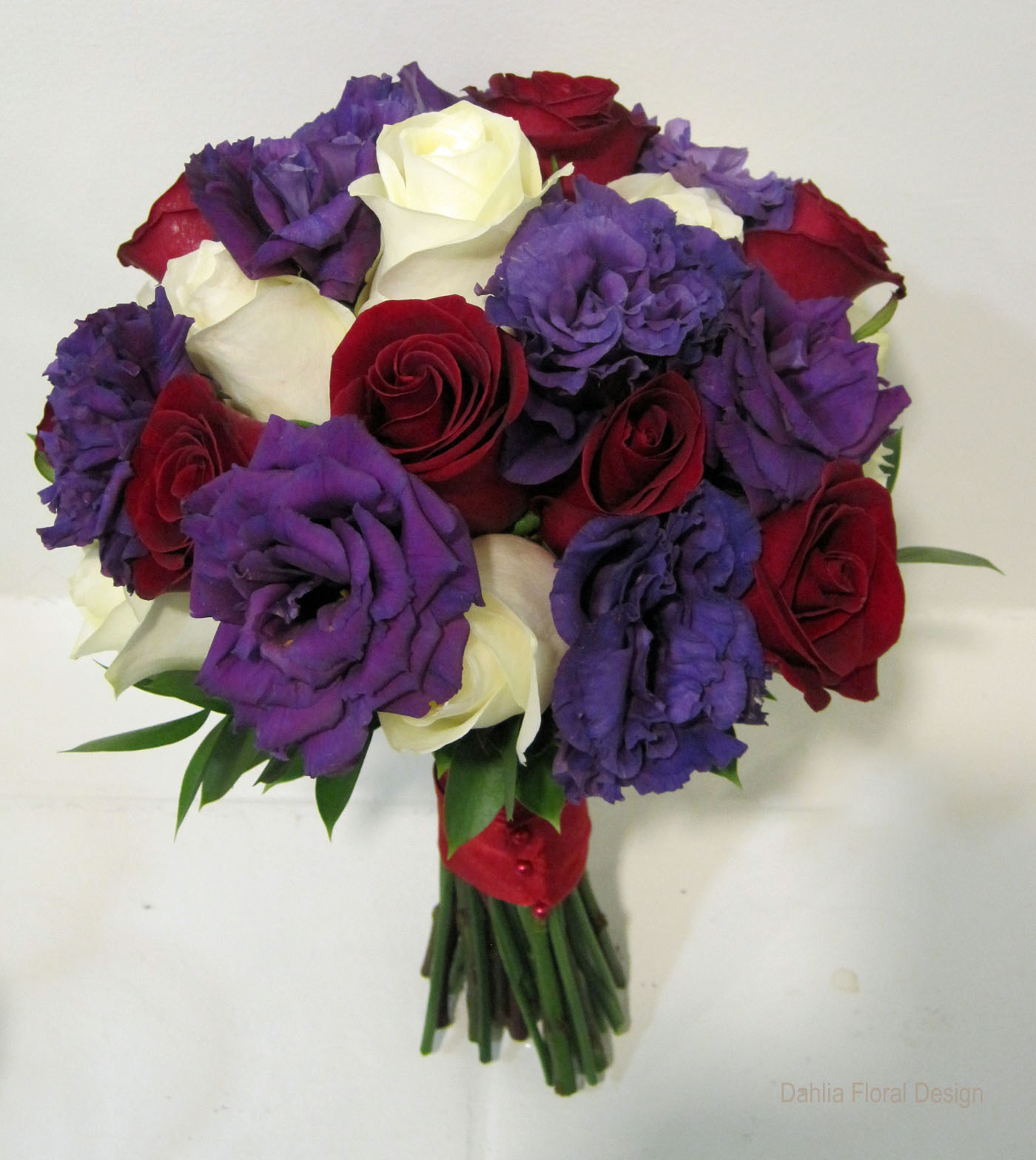 Colours That Go With Peach Red Purple Ivory Rose Wedding Flower Bridal Party Bouquet
