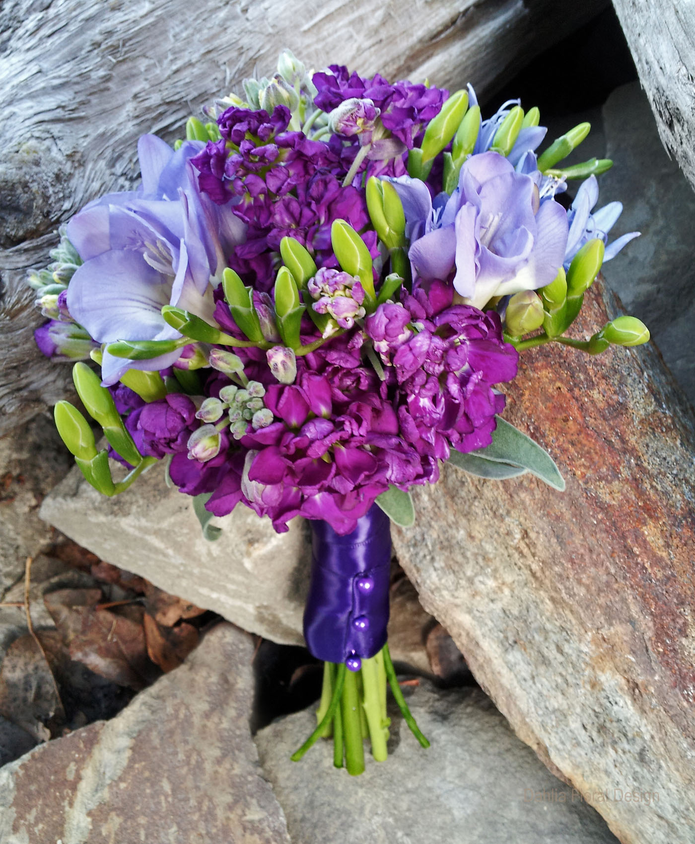 purple and lavender wedding flower bridal party bouquet. Black Bedroom Furniture Sets. Home Design Ideas