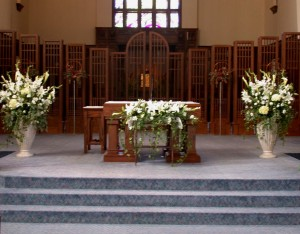 Wedding ceremony ideas dahlia floral design calgary st marys cathedral white arrangements calgary wedding ceremony flowers mightylinksfo