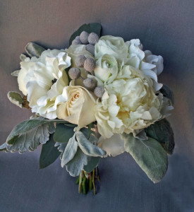 full lush ivory white garden rose peony anemone dusty millar calgary wedding flowers bridal party bouquet