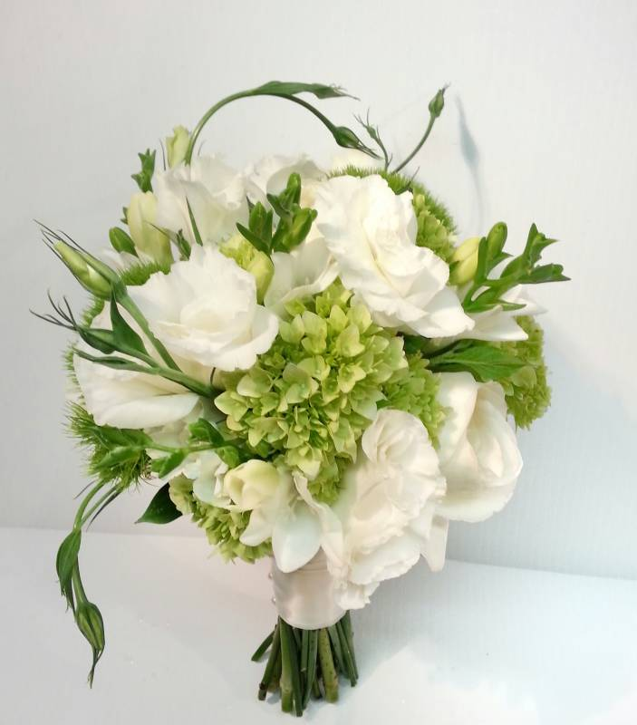 Wedding White Hydrangea: White And Green Wedding Bouquets