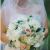pale pink, peach and ivory garden inspired bouquet
