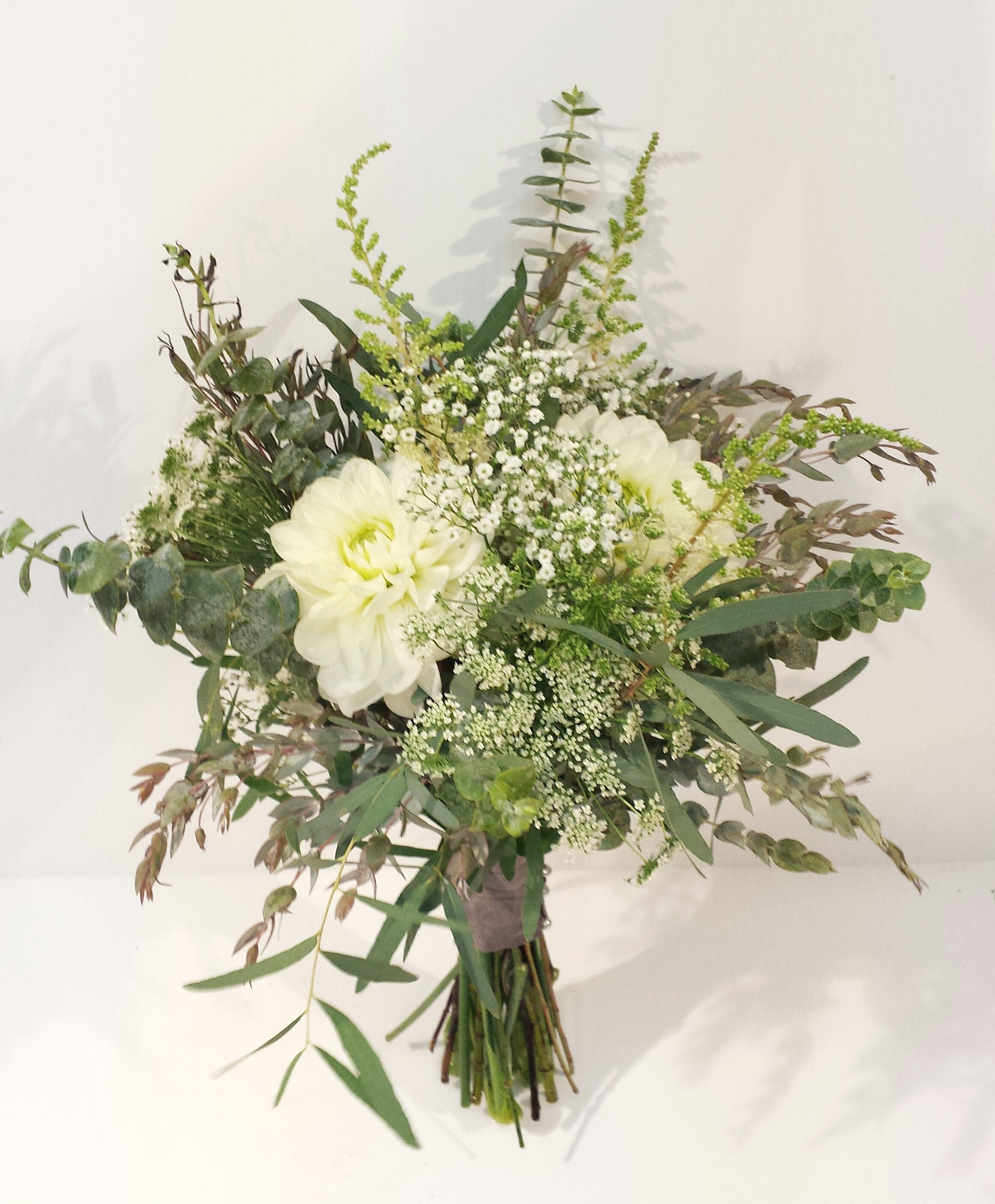 white and green wedding bouquets dahlia floral design. Black Bedroom Furniture Sets. Home Design Ideas