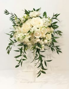 Calgary Wedding Flowers Florist Real Inspiration Cream Ivory White Champagne Green Bridal Party Bouquets Dahlia Floral