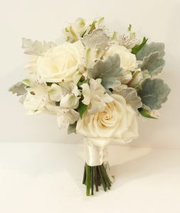 White and green wedding bouquets dahlia floral design calgary wedding flowers florist real inspiration cream ivory white champagne green bridal party bouquets dahlia floral mightylinksfo