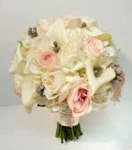White And Green Wedding Bouquets Dahlia Floral Design