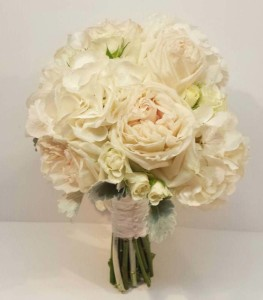 white and green wedding bouquets - dahlia floral design