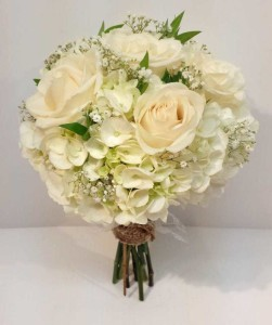 inspiration calgary real wedding flowers florist wedding dahlia floral design white cream green champagne ivory bouquets - Garden Rose And Hydrangea Bouquet