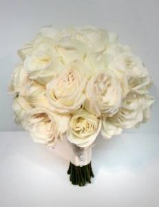 White And Ivoyr Rose Real Calgary Wedding Flower Bridal Bouquet