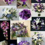 inspiration board blue purple bouquets wedding party bridal flowers calgary