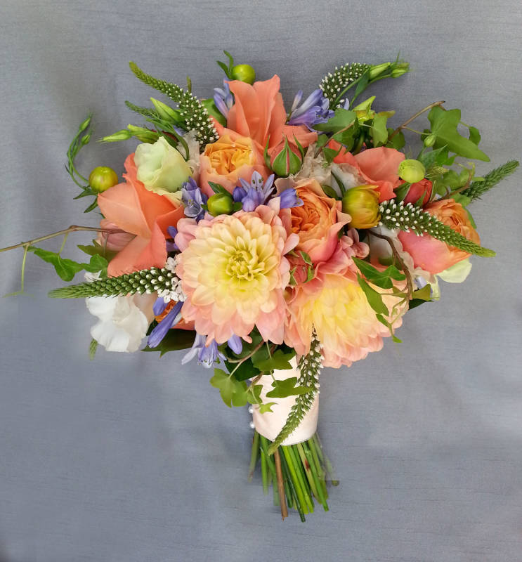 Coral Colored Flower Arrangements Peach and Coral...