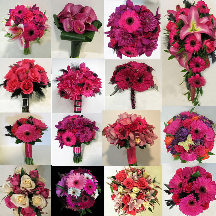 Inspiration board pink bouquets designed by dahlia floral design inspiration board hot pink bouquets mightylinksfo