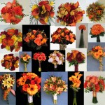 inspiration board orange bouquets wedding party bridal flowers calgary