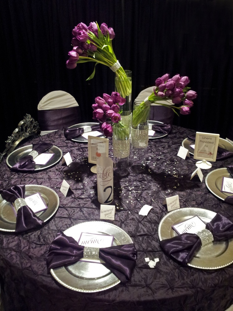 Inspiration For Purple Amp Silver Wedding Reception By