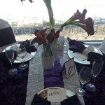 WED STUDIO PURPLE RHINESTONE TABLE CENTERPIECE 1400