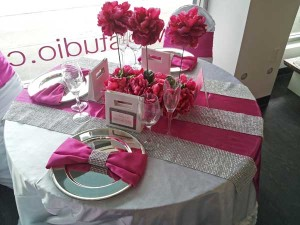 Inspiration Board - Reception Table Ideas - Pink, White and Bling ...