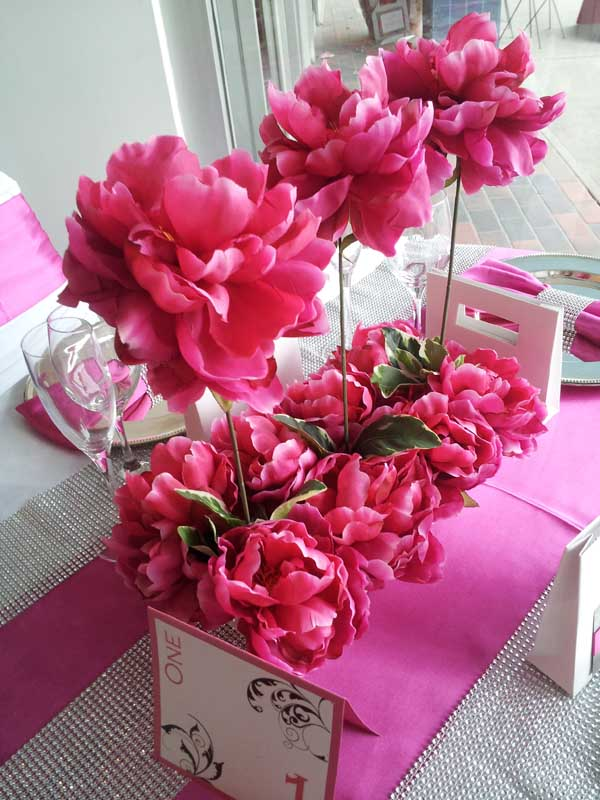 Inspiration Board Reception Table Ideas Pink White And Bling Dahlia Floral Design