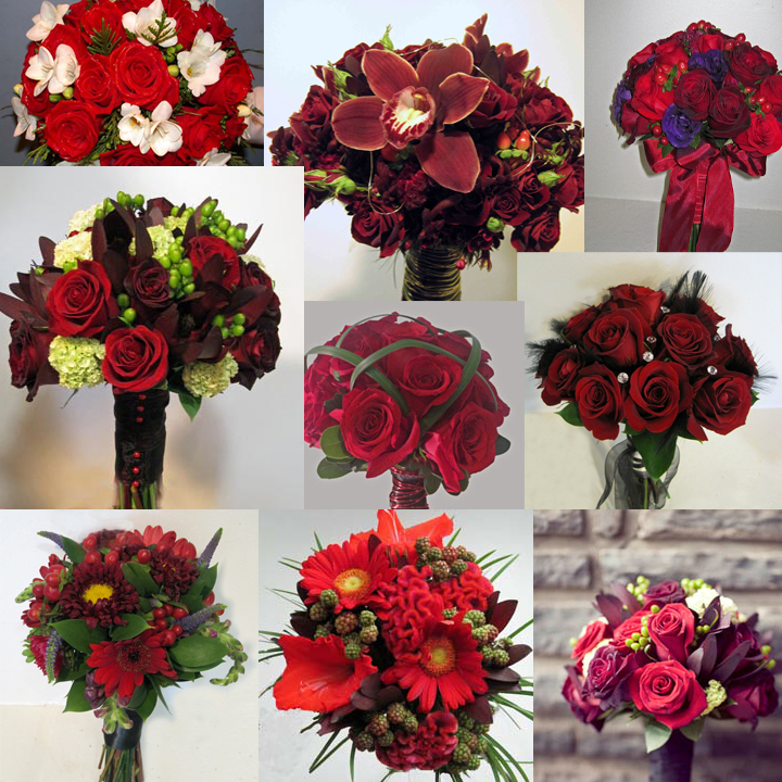 Wedding Flower Bouquet Inspiration - Red - Dahlia Floral Design