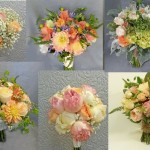 coral or peach wedding flower bouquet inspiration calgary dahlia floral design
