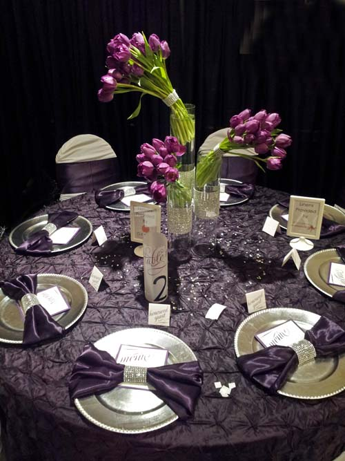 Inspiration Board Reception Table Ideas Purple Silver And Black