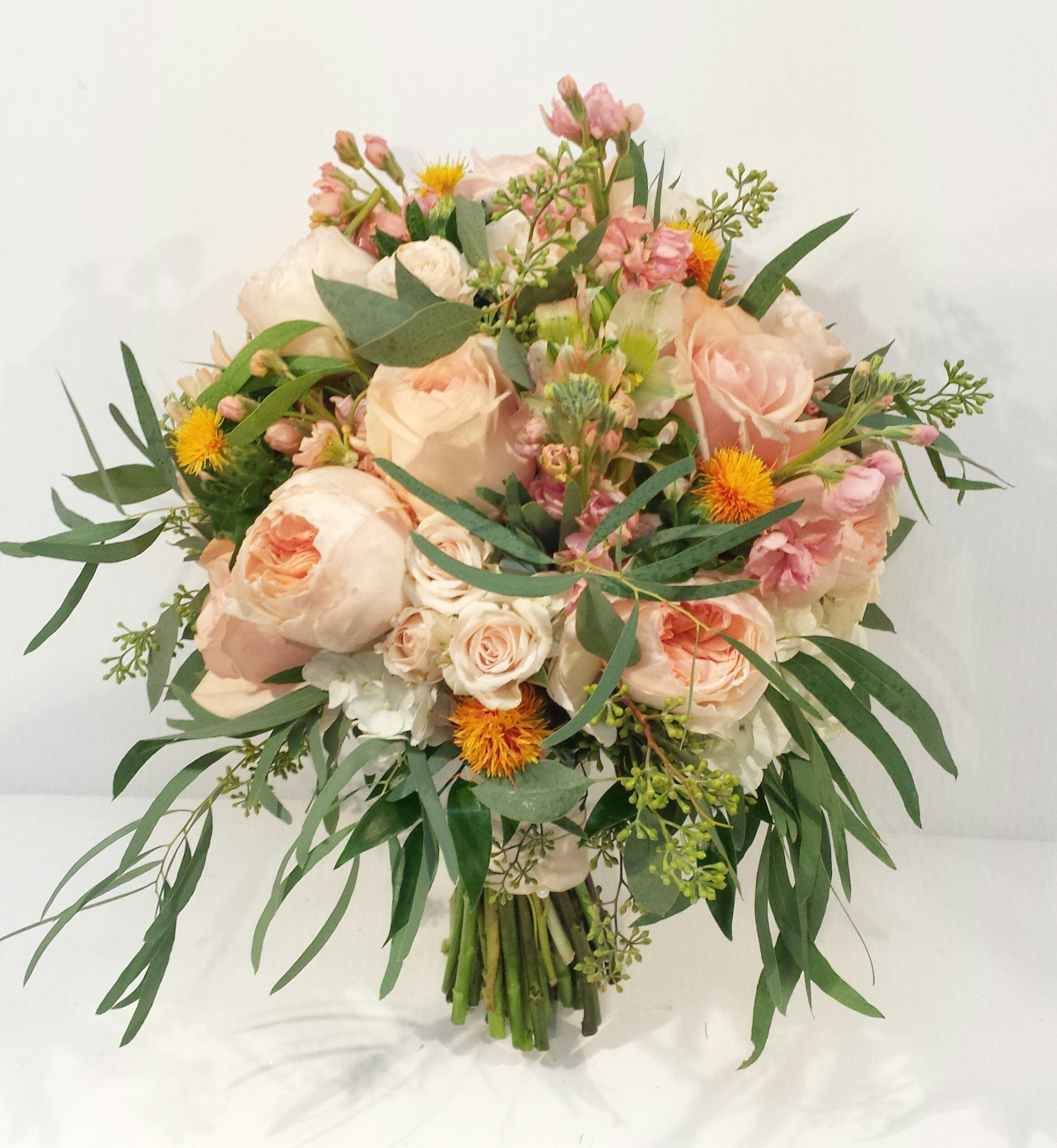 Designer Wedding Flowers: Peach And Coral Wedding Bouquets
