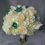 hydrangea rose calla bridal bouquet