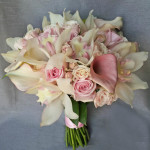 pale pink rose orchid calla lily bridal bouquet