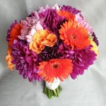 orange purple bridal bouquet calgary wedding flowers