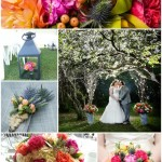 bright color colors inspiration calgary real weddings flowers florist