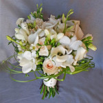 whte green natural wedding flower bridal bouquet calgary flowers
