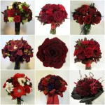 inspiration calgary real weddings flowers florist red burgundy bridal bouquets