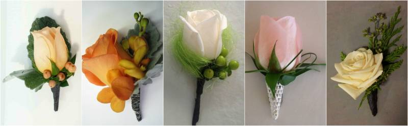 Boutonnieres – classic rose
