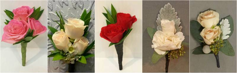 Garden Rose Boutonniere boutonnieres - the not so basic rose - dahlia floral design
