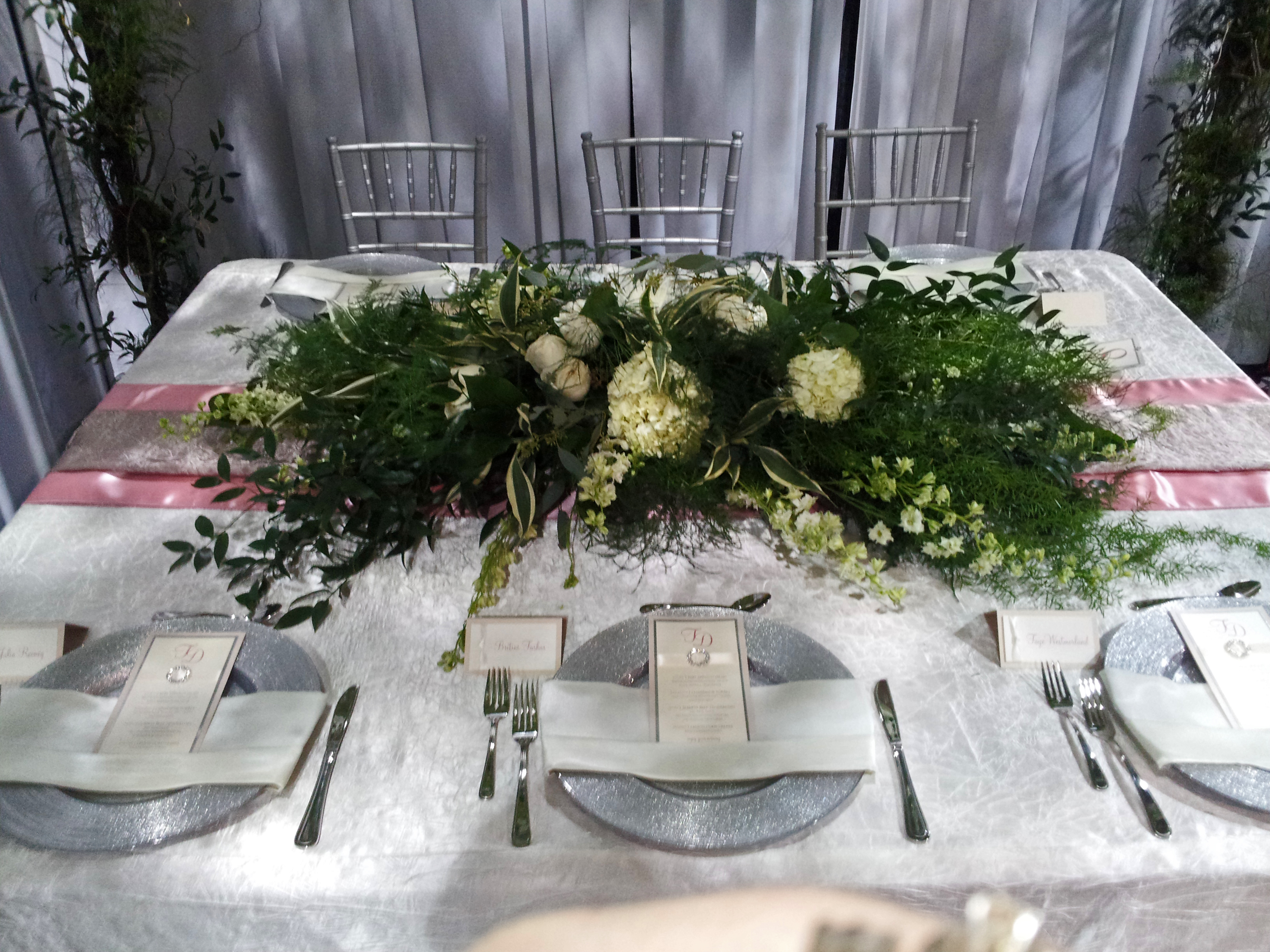 Head Table Decorations For Wedding Reception Pink