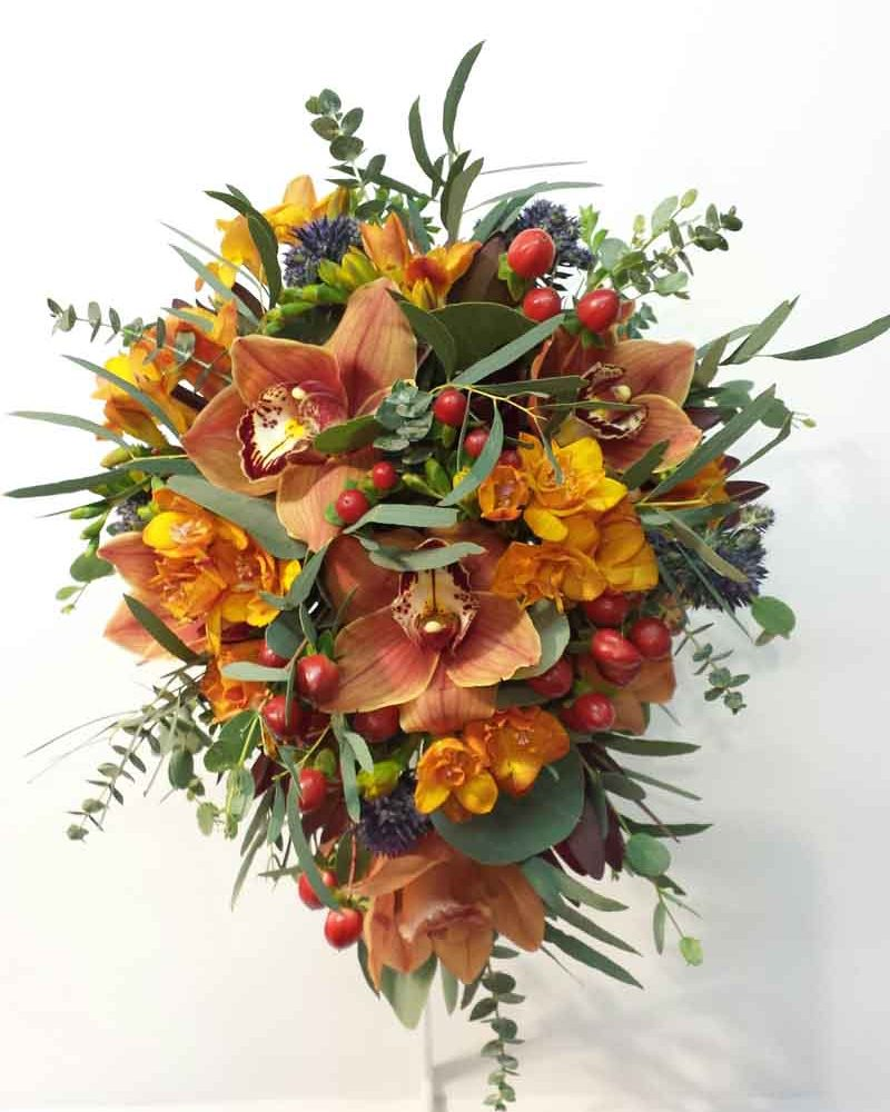 Shades of a Sunset Wedding Bouquet Video