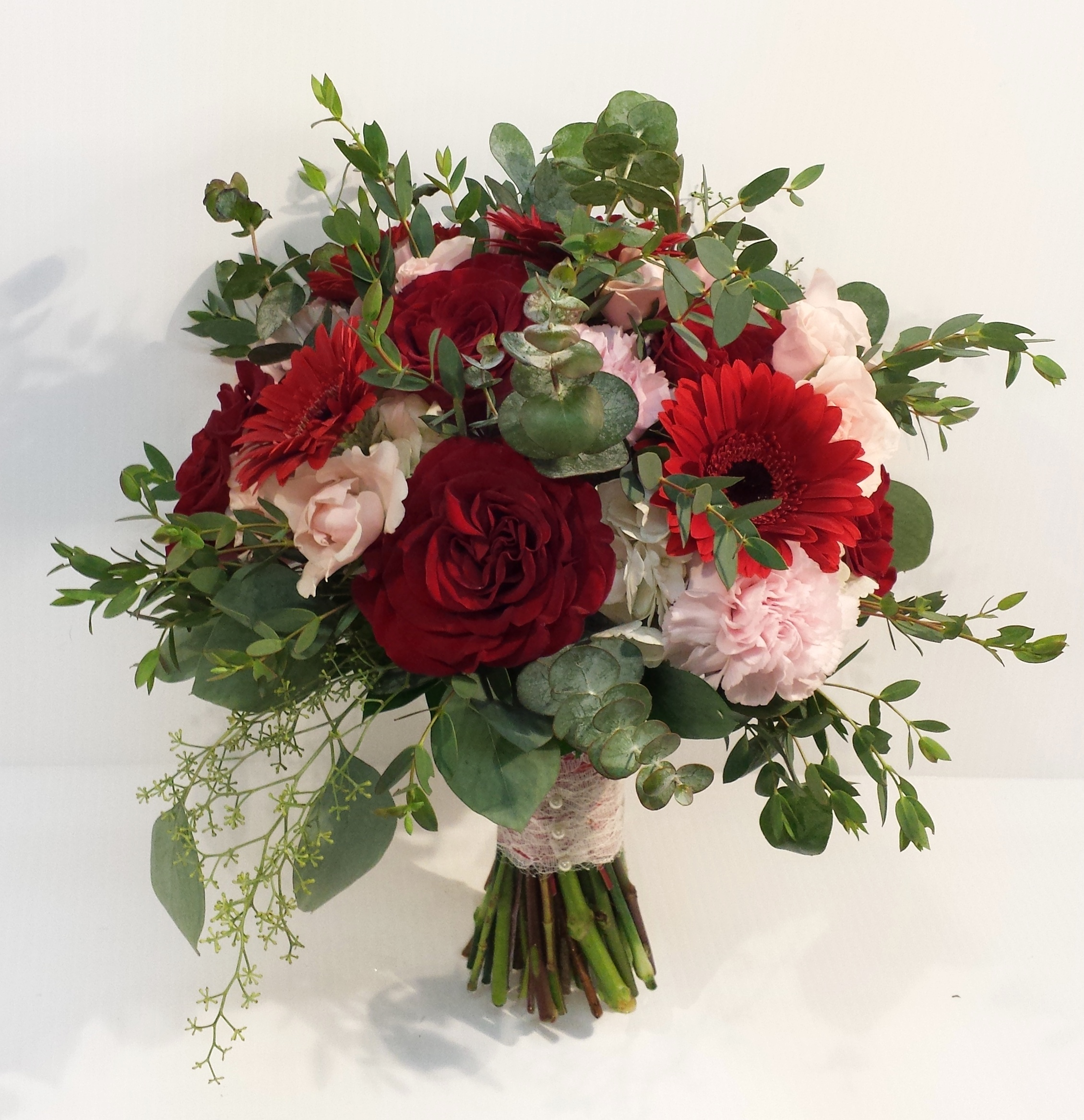 calgary wedding flowers florist dahlia floral design yyc weddings real weddings inspiration bridal bouquet wedding flowers red blush pink cream