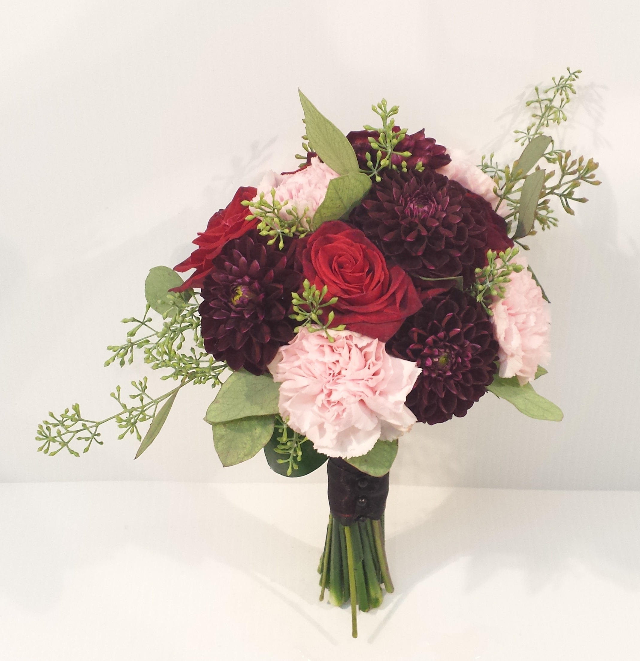calgary wedding flowers florist dahlia floral design yyc weddings real weddings inspiration bridal bouquet wedding flowers burgundy rustic pink blush