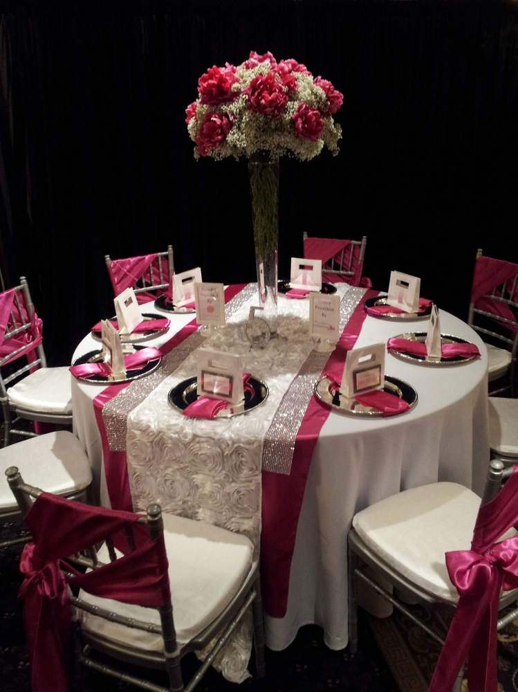 inspiration for hot pink wedding reception by dahlia