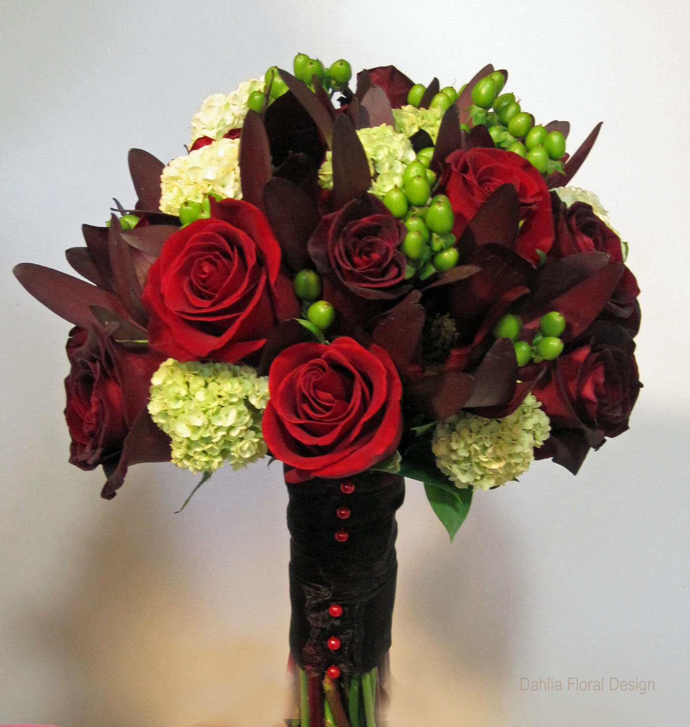 Dahlia Burgundy Black Flower: Sunset Colored Wedding Bouquets
