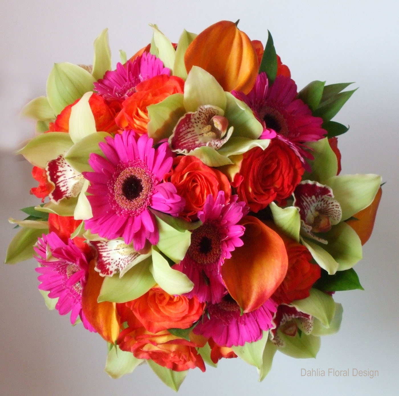 Green And Pink Roses Fusion Mixed Co...